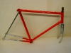 Fahrrad - Rahmen rot - silver